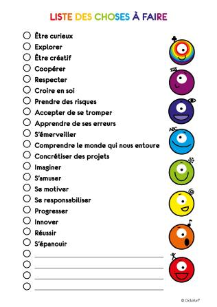 Octofun - Liste des choses à faire couleurs